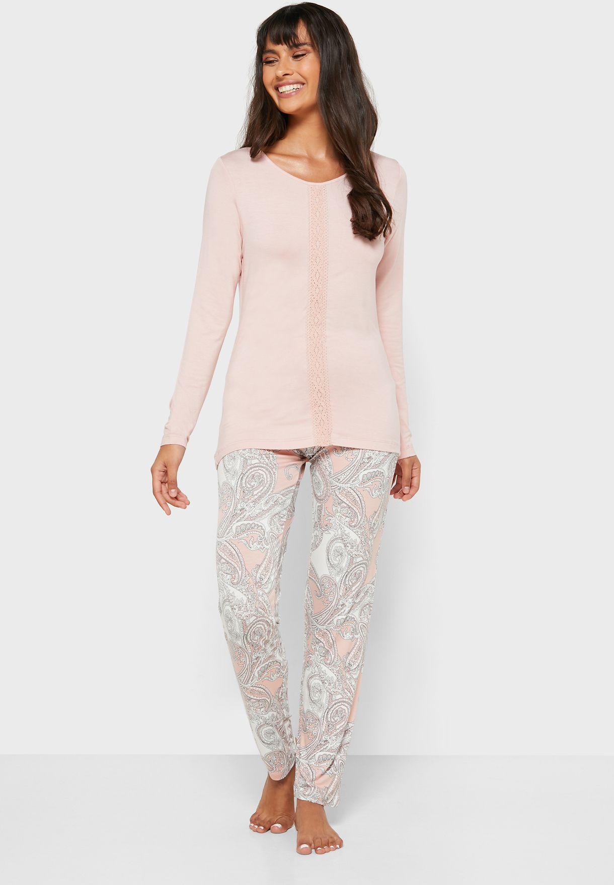 T-Shirt & Printed Pyjama Set