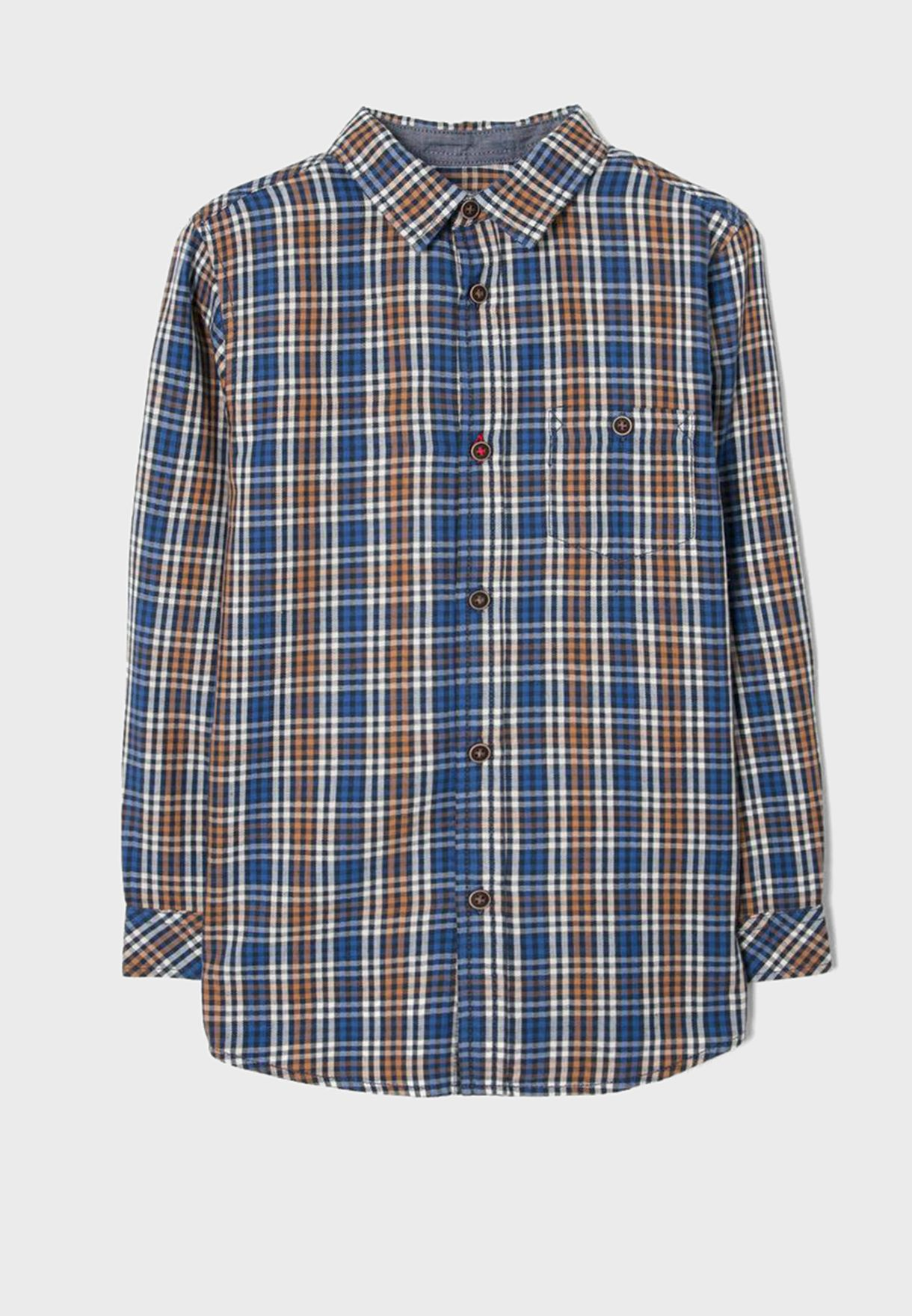 قميص مربعات للاطفال