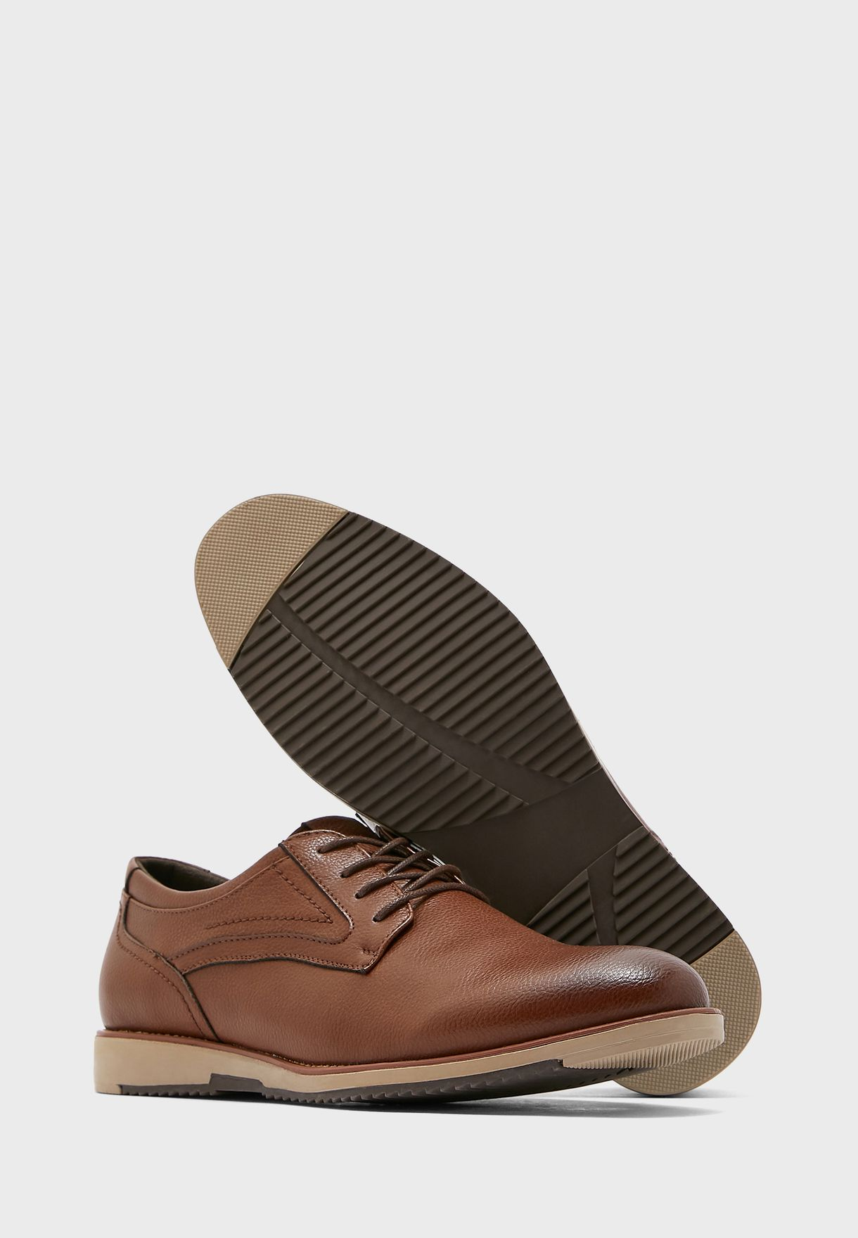 Faux Leather Casual Lace Ups
