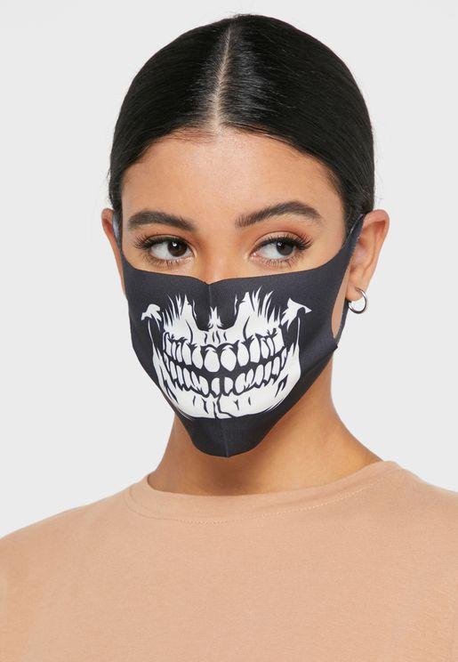 Fashion Mask  Skull Teeth