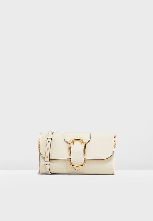 Flap Over Belted Clutch
