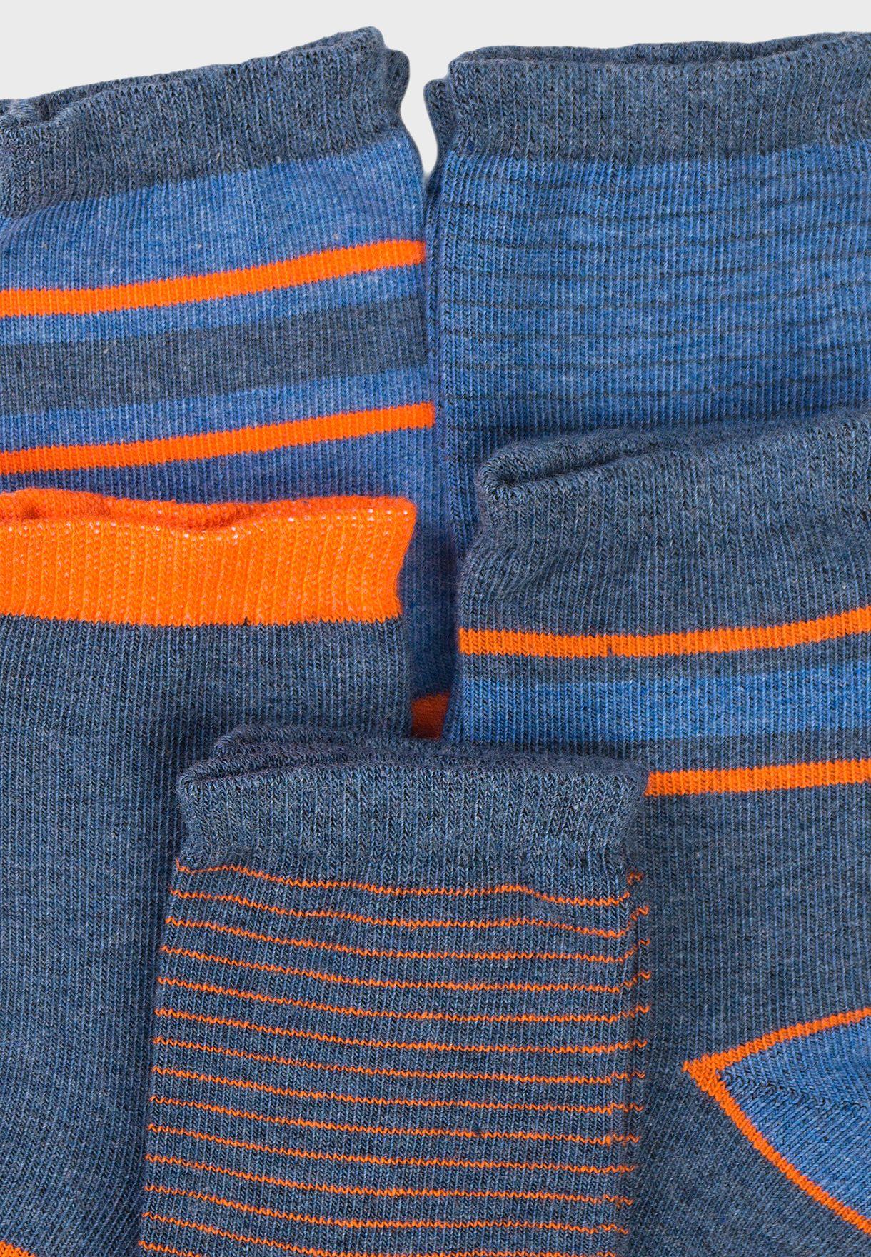 Teen 5 Pack Striped Socks
