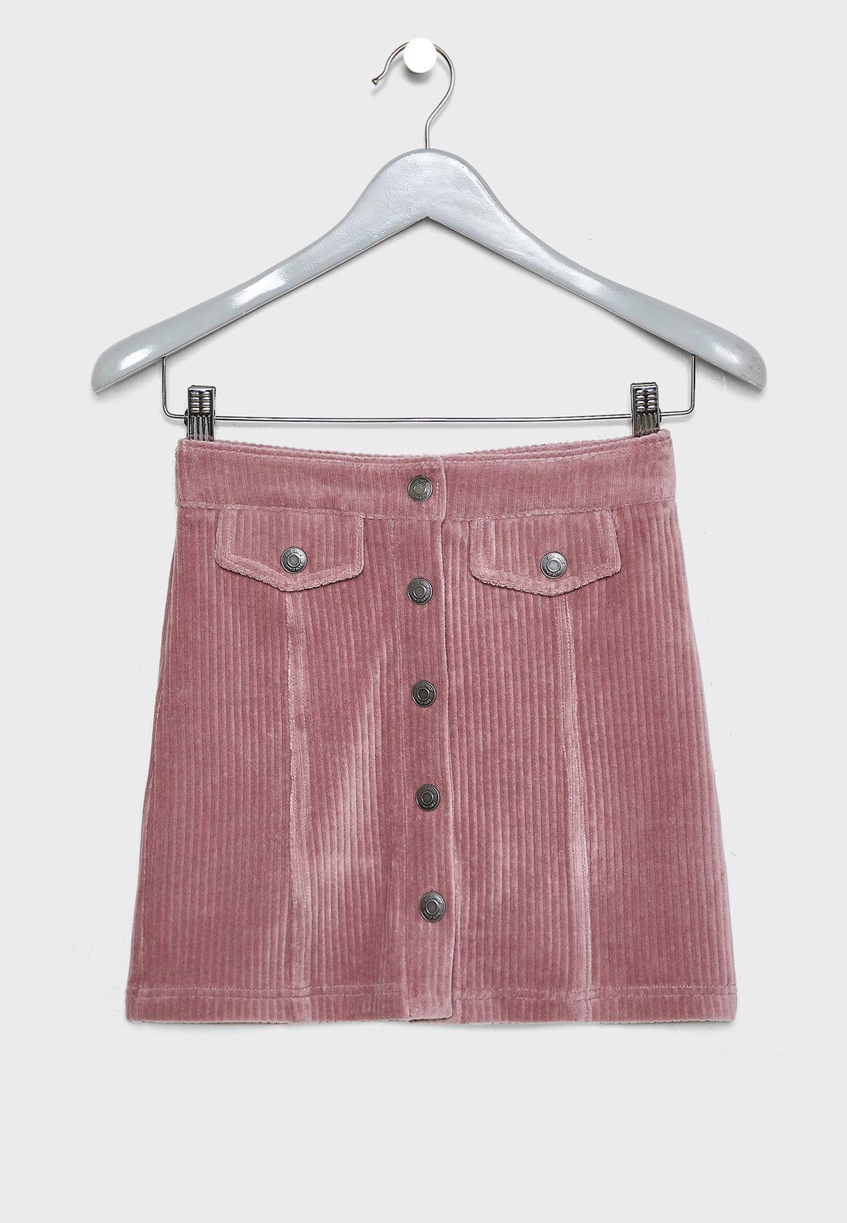 Kids Button Down Skirt