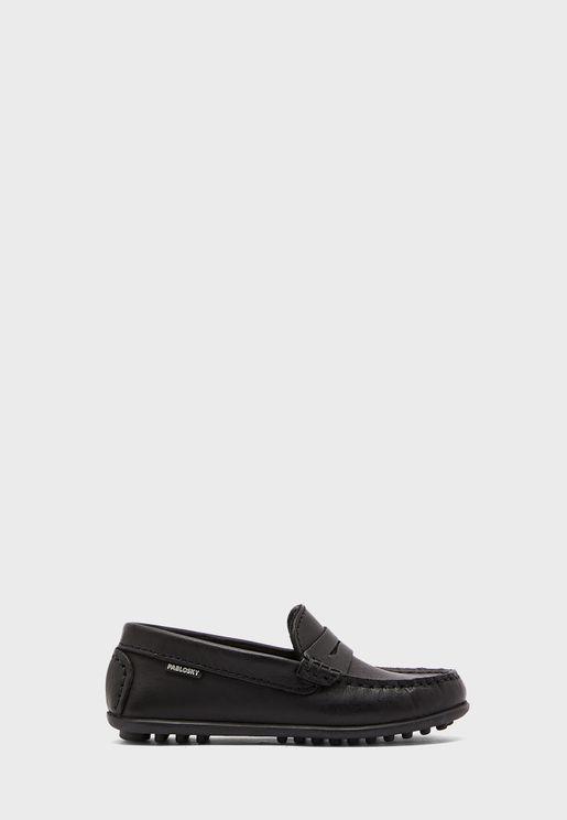حذاء جلد اصلي للاطفال