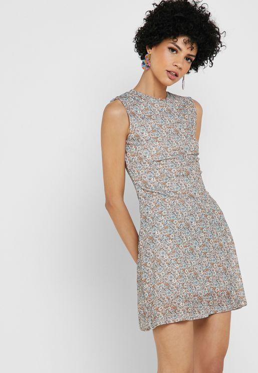 4907e0b800c27f Floral Print Skater Dress. Topshop