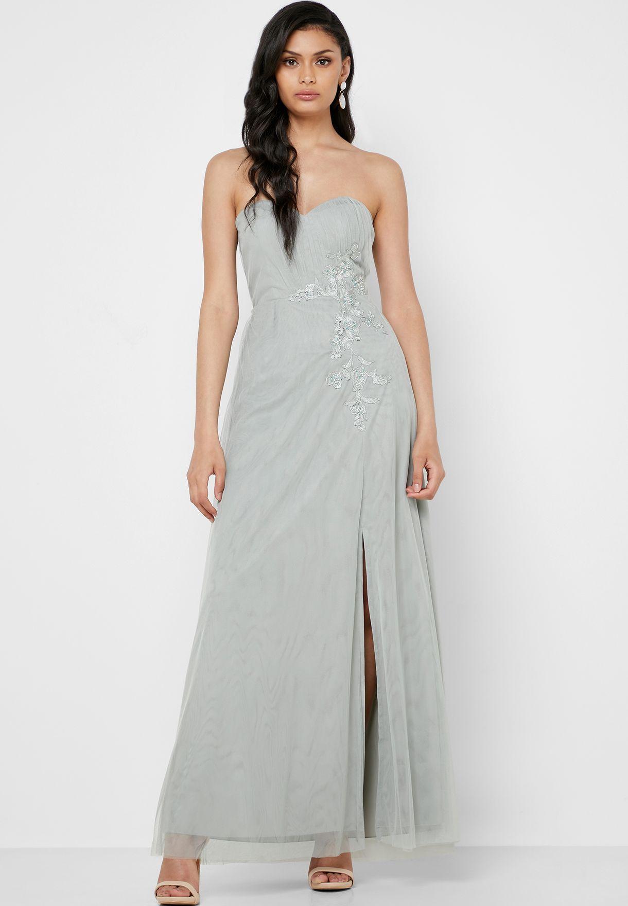 Embellished Sweetheart Dress