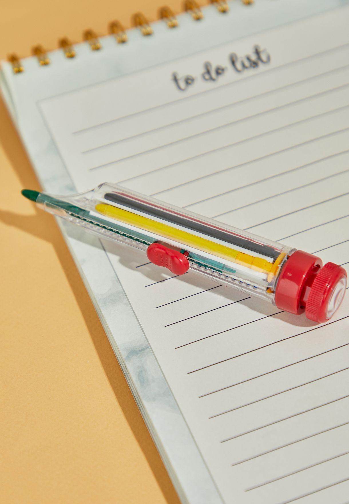 قلم بثمانية الوان