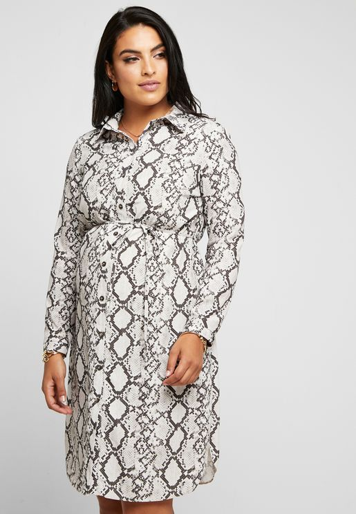 437de5e9796f9 Buy maternity clothes online at Namshi to take advantage of our growing  range. Tie Waist Snake Print Shirt