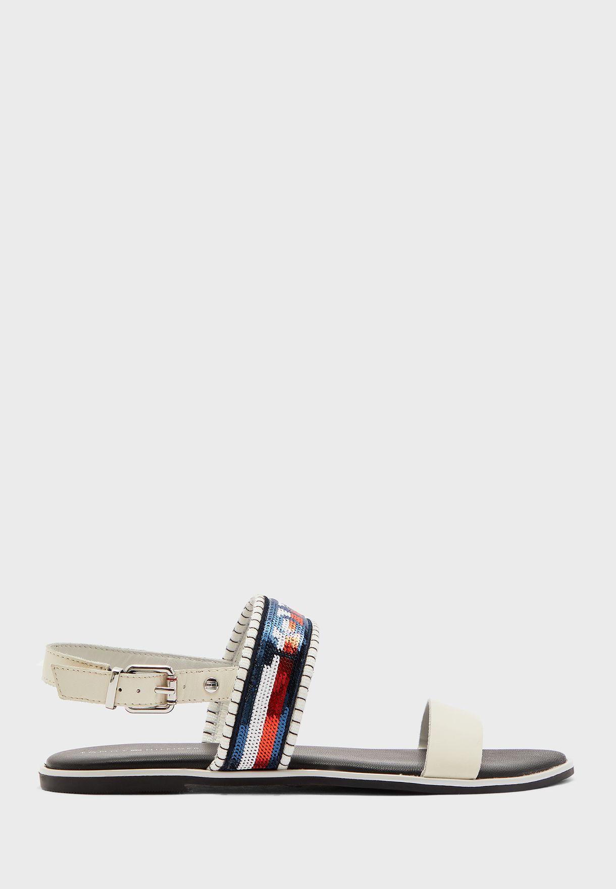 Tommy Sequins Flat Sandal - YBI