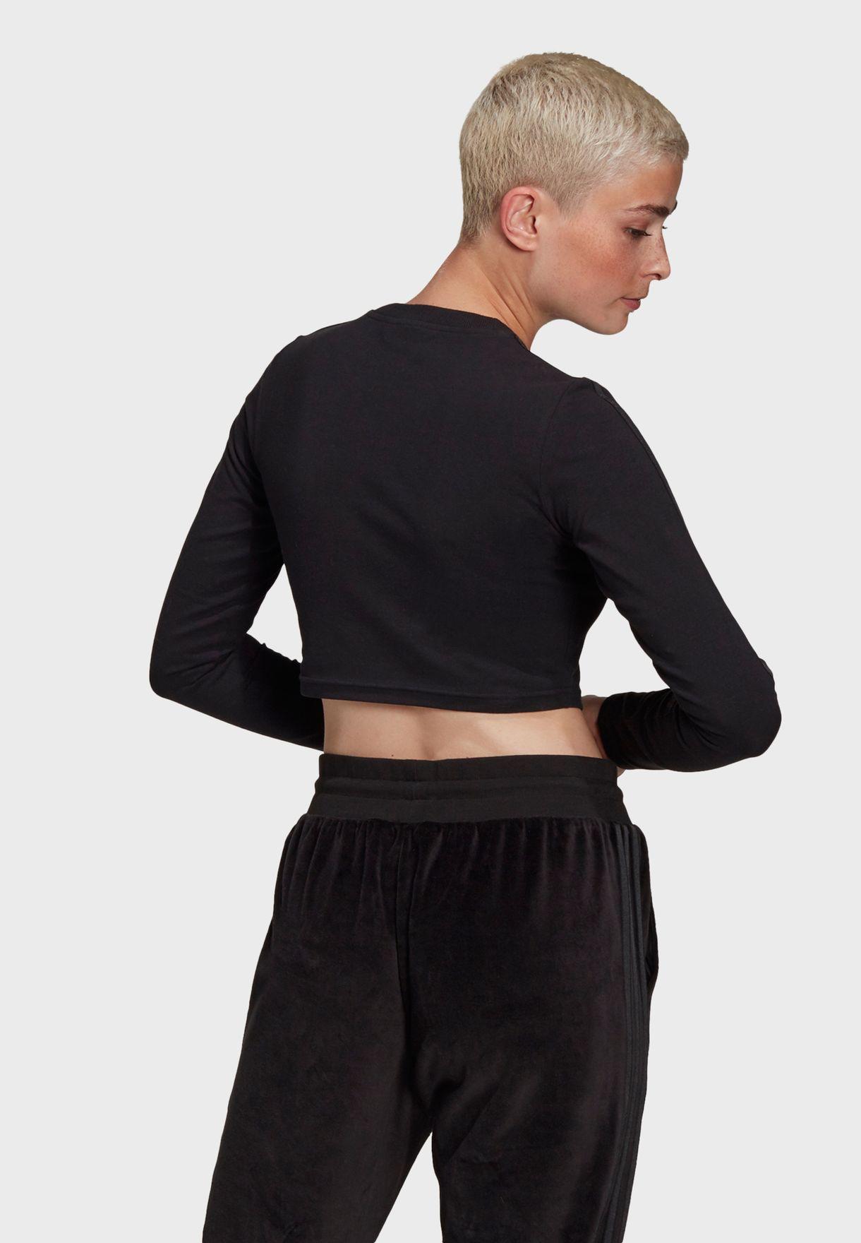 3 Stripe Cropped T-Shirt