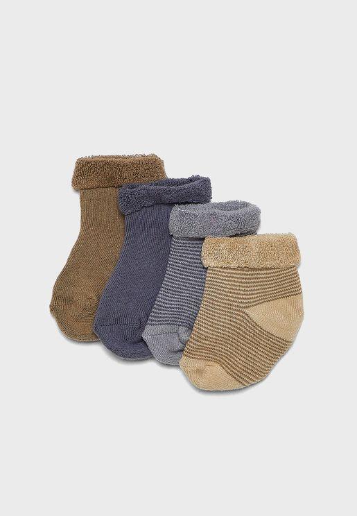 Kids 4 Pack Fleece Socks