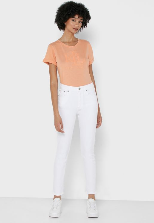 Hi Rs Sk Ank High Waist Skinny Jeans