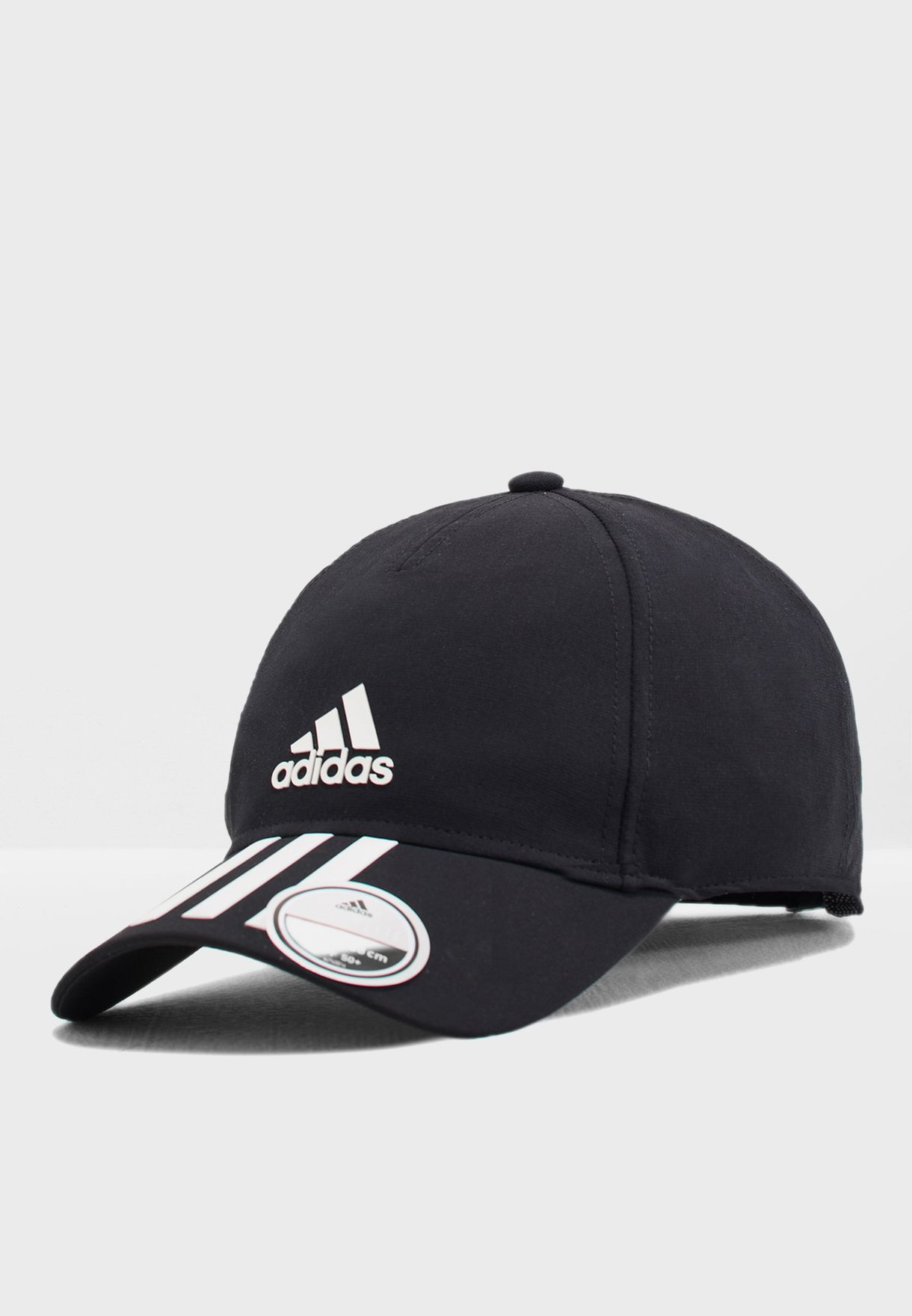 9260163f Shop adidas black C40 6 Panel 3 Stripe Climalite Cap DT8542 for Men ...