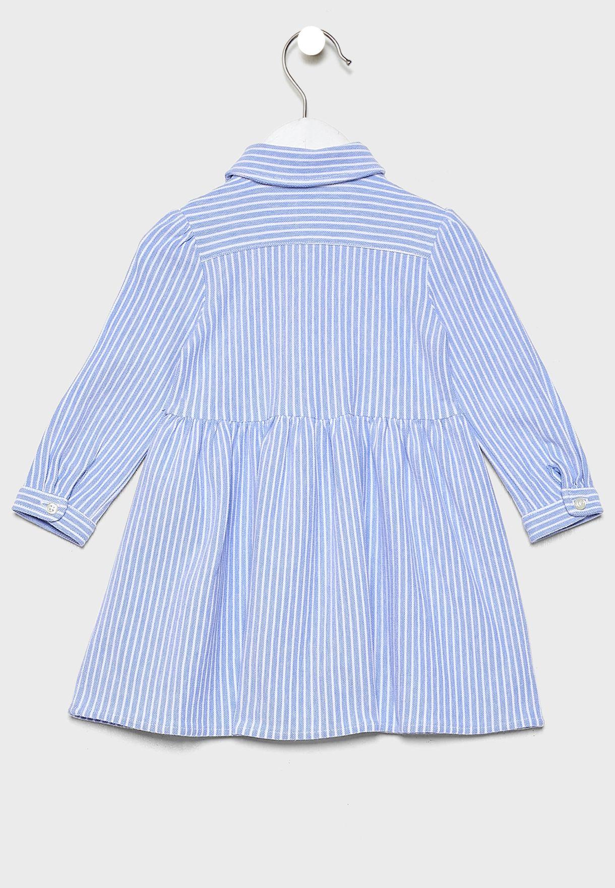 Infant Striped Dress + Shorts Set