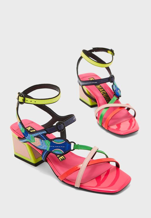 Dylana Block Heel Sandal