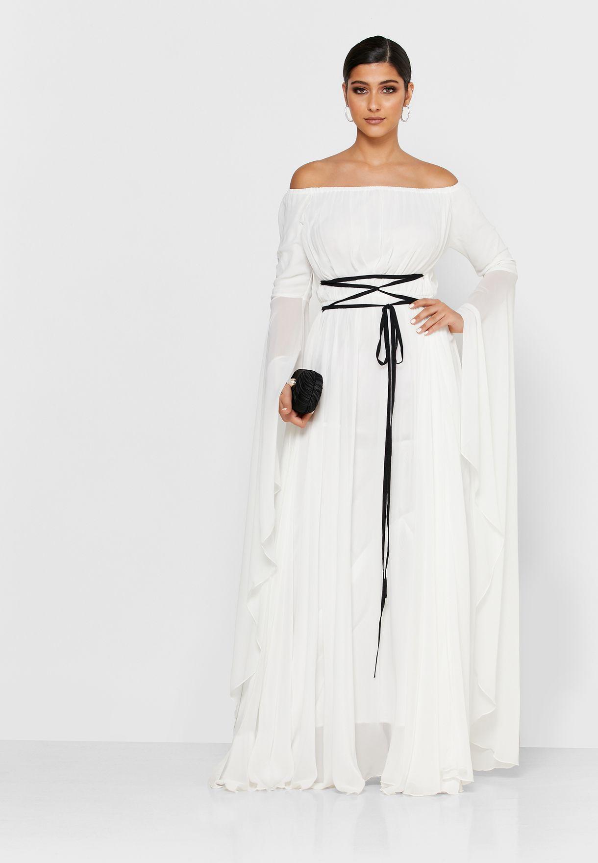 فستان ماكسي باكتاف عارية