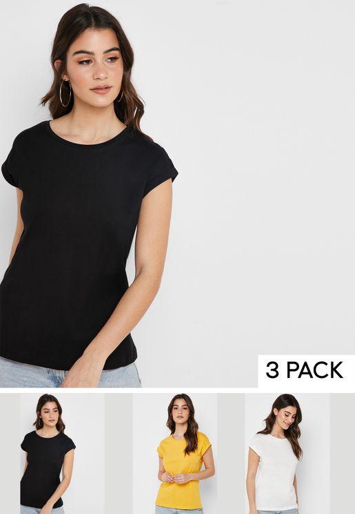 3 Pack Crew Neck T-Shirt