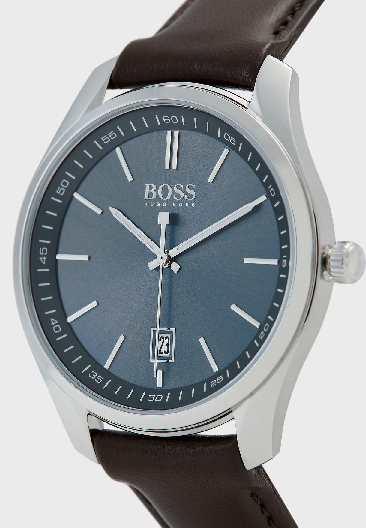 ساعة باساور جلدية