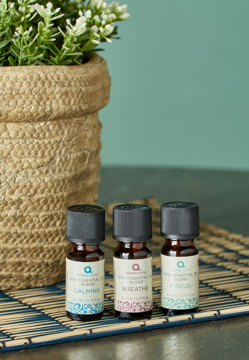 Essential Oil 3 X 9ml With Ultrasonic Diffuser