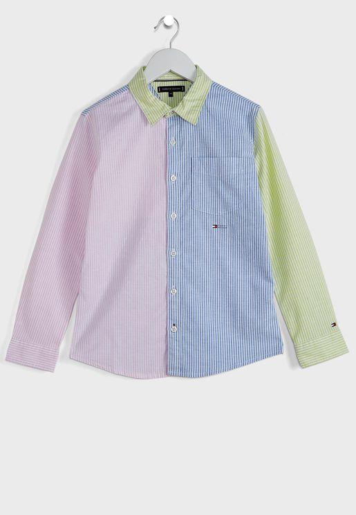 Teen Ithaca Stripe Stretch   Shirt