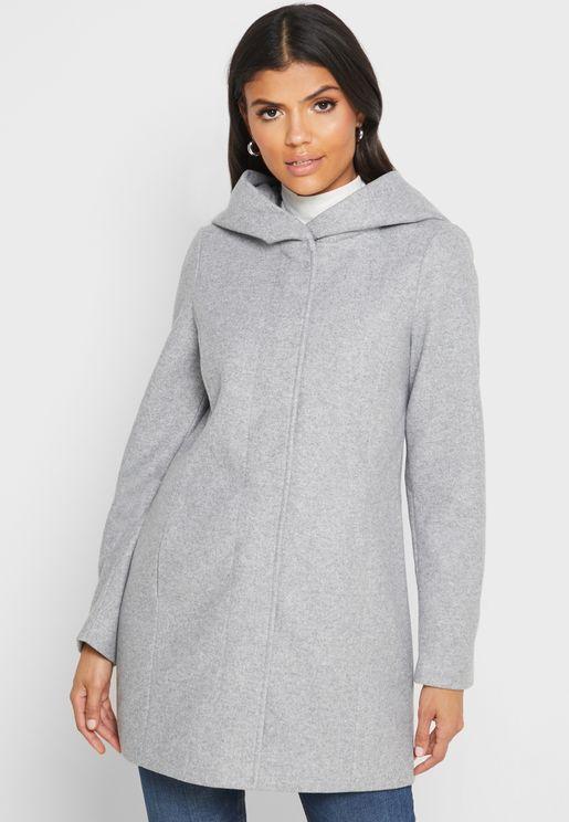 Longline Hooded Jacket