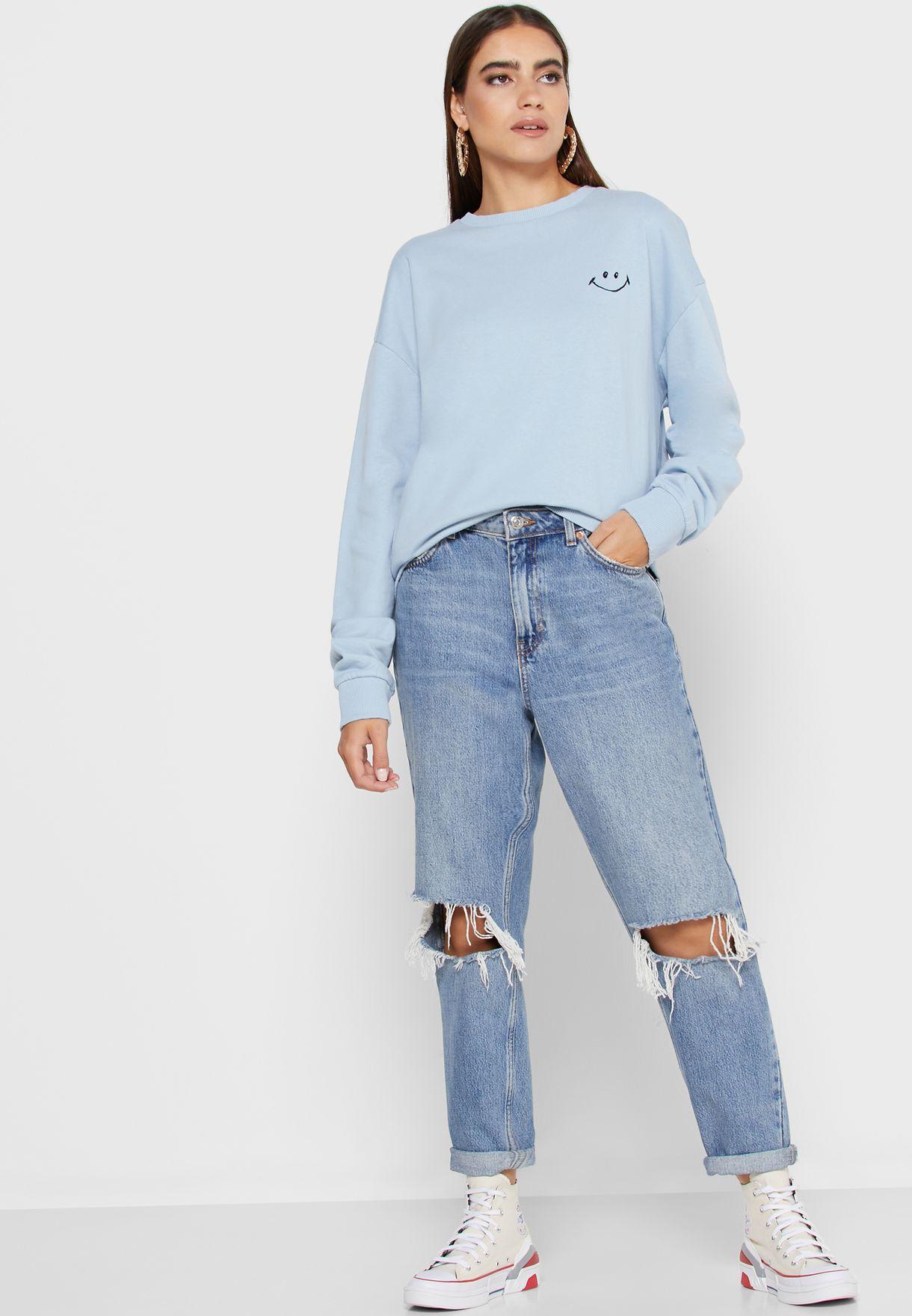 Smiley Graphic Sweatshirt