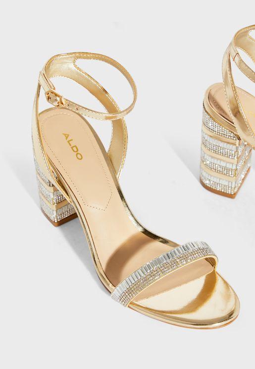 Alhamra Ankle Strap Block Heel Sandal