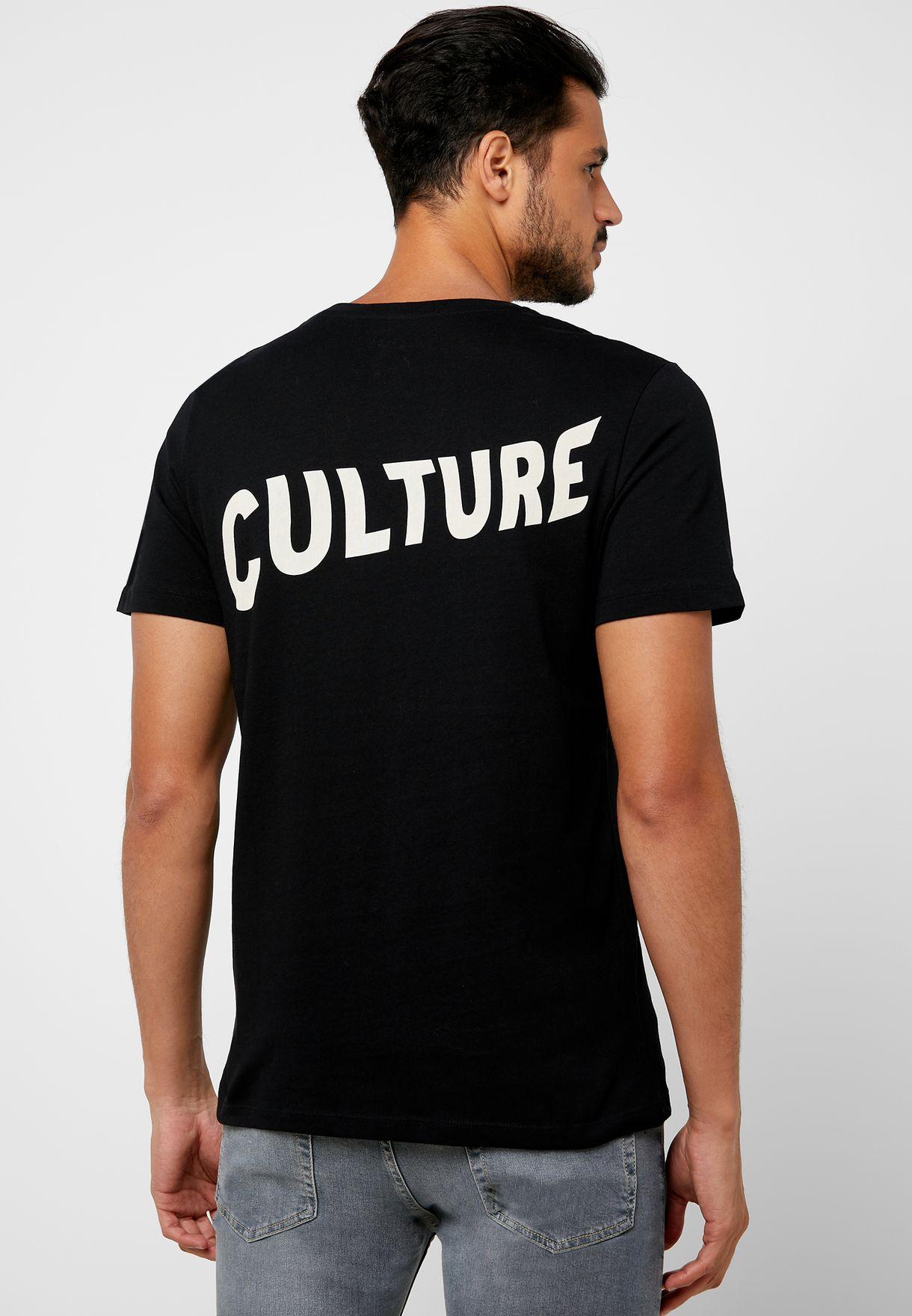 Migos Print Crew Neck T-Shirt