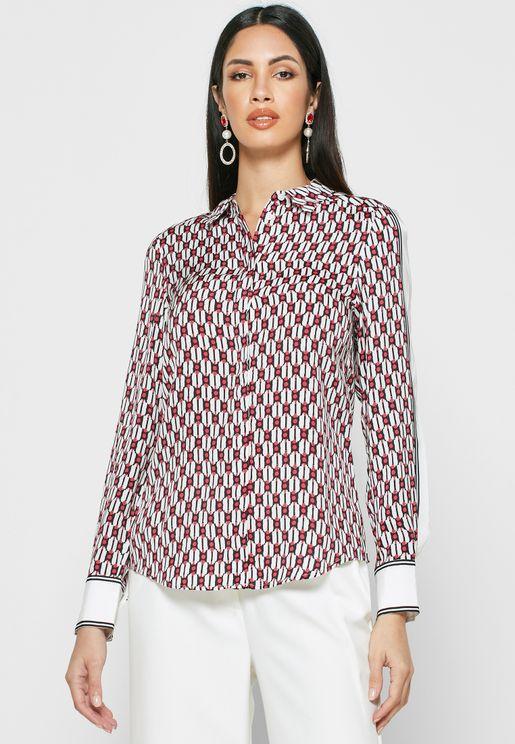 Florence Geo Print Shirt