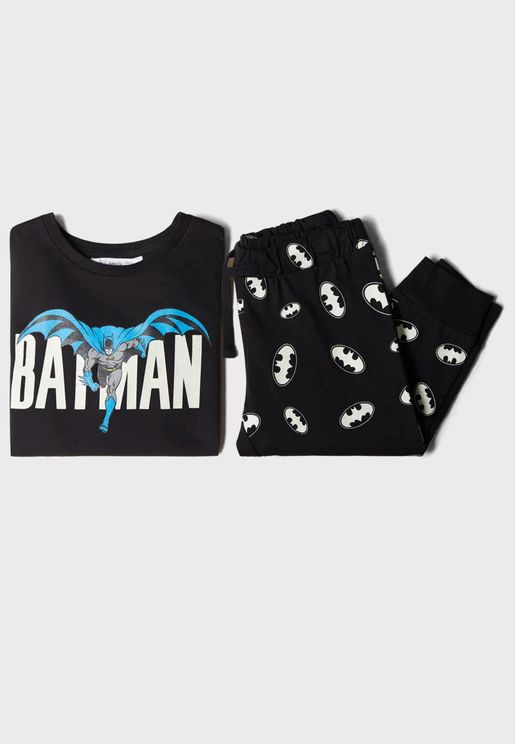 Kids Batman T-Shirt + Pyjama Set