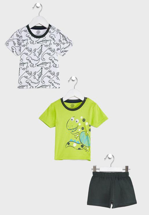 2 Pcs T-Shirts & Shorts Set