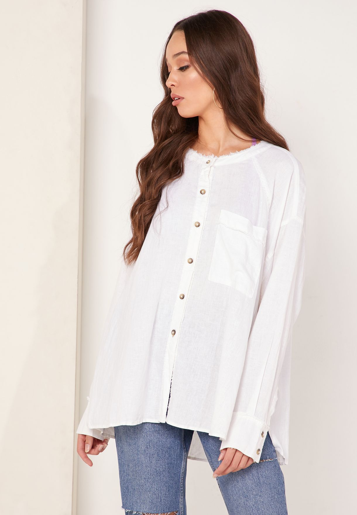 Keep It Simple Button Detail Top