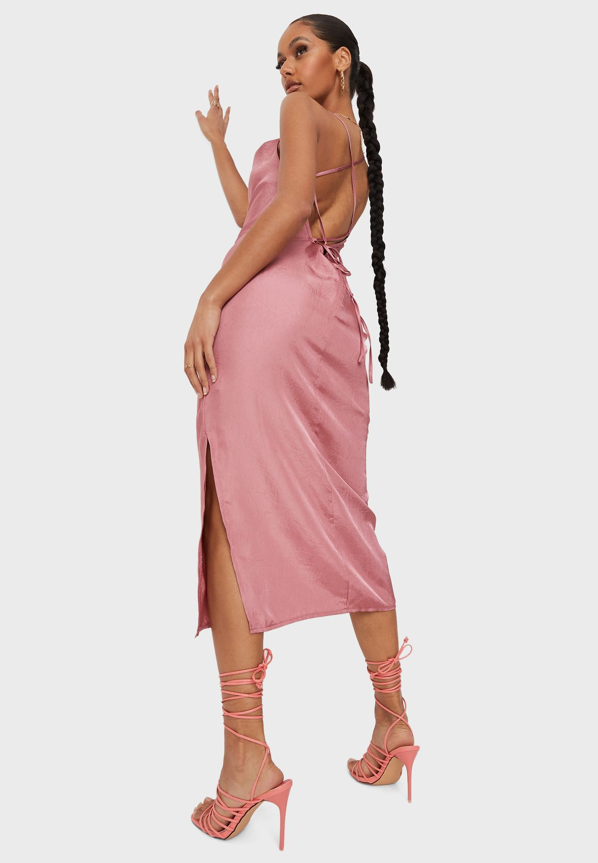 Cowl Neck Mini Cami Dress