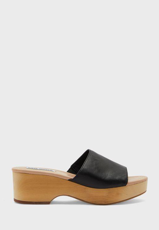 Clarke Mid-Heel Wedge Sandals