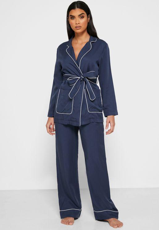 Wrap Front Pyjama Set