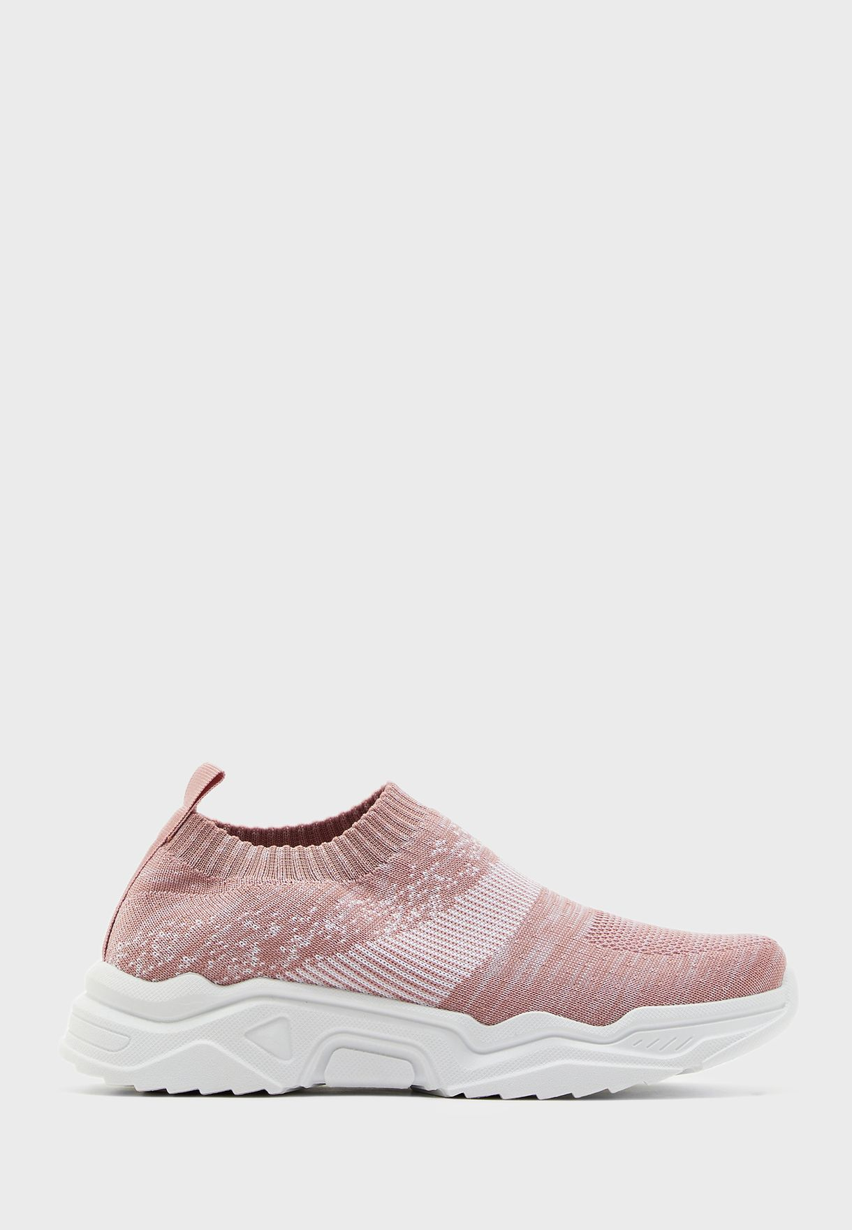 Marl Knit Slip On Sneakers