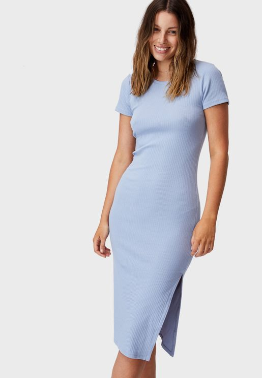 Essential Split Midi Dress