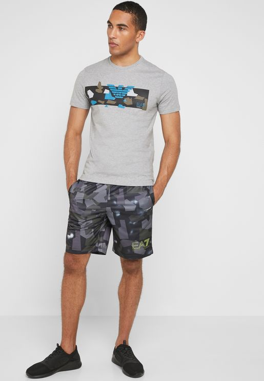 Graphic Camo Shorts