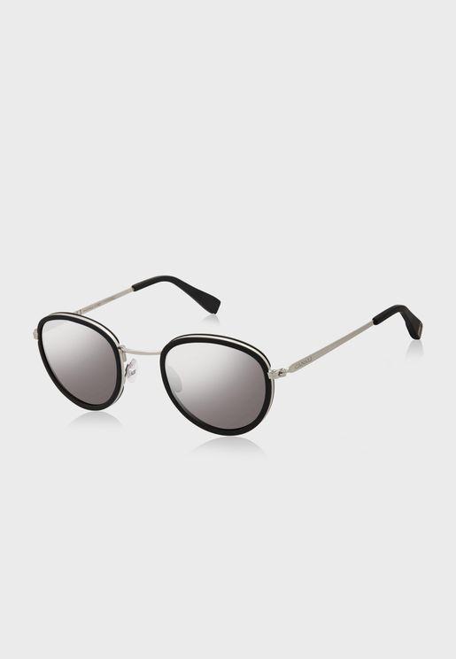 L CO21002 Round Sunglasses