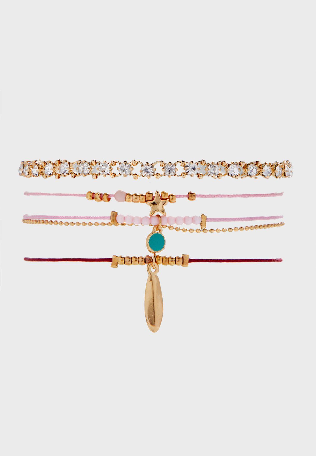 Pretty Multi Pack Bracelets