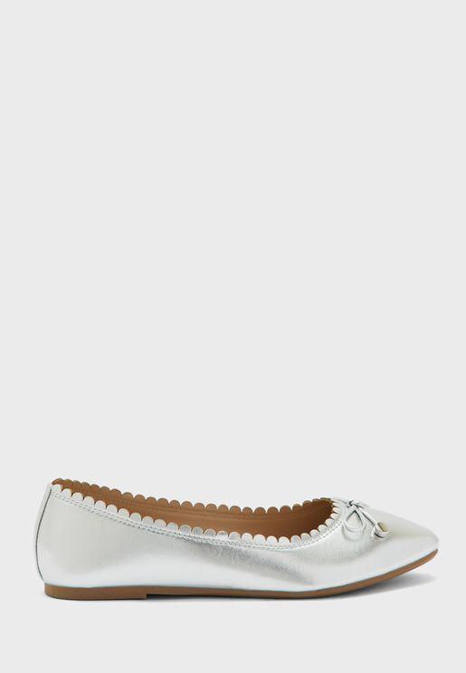 حذاء باليرينا لامع