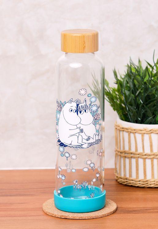 Moomin Troll & Snorkmaiden Glass Water Bottle