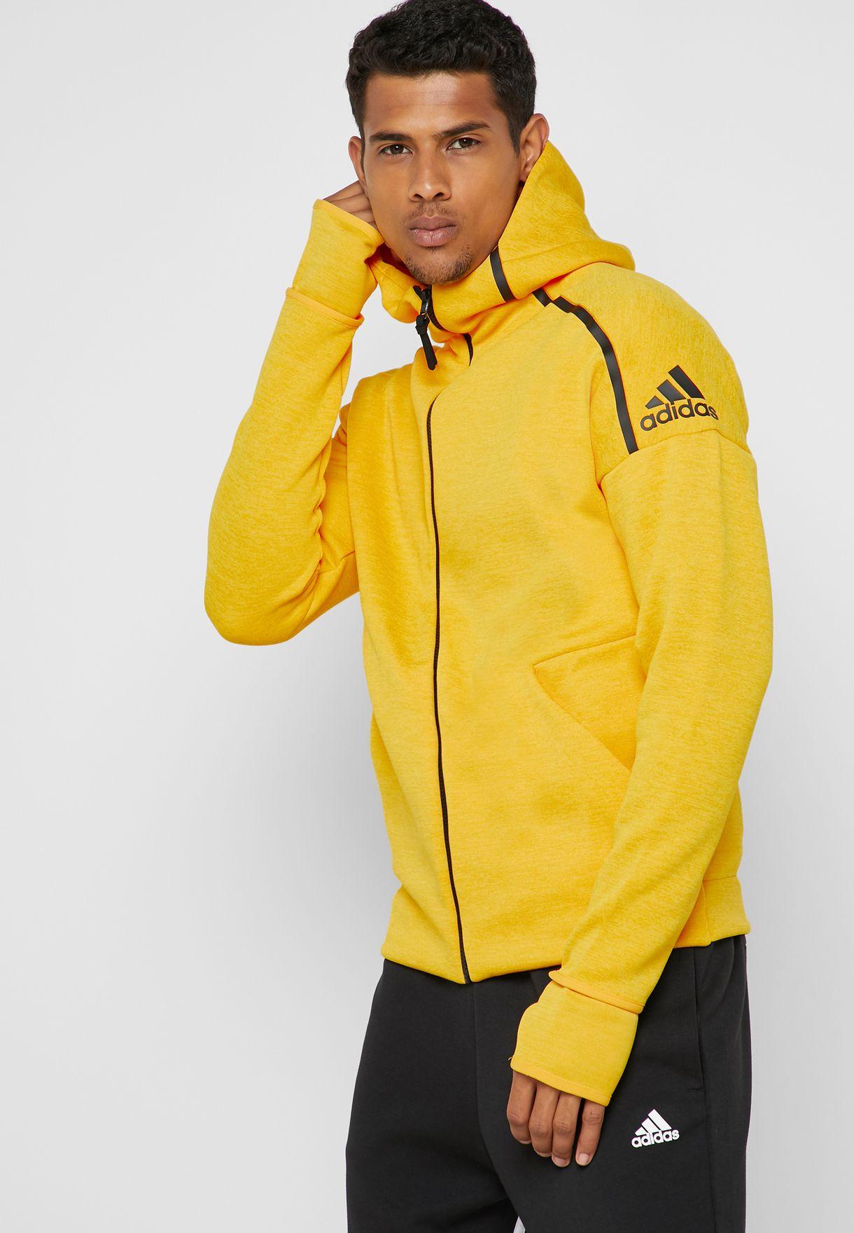 adidas yellow hoodie