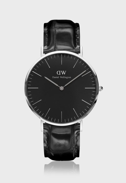 Classic Reading Silver Black 40mm Watch