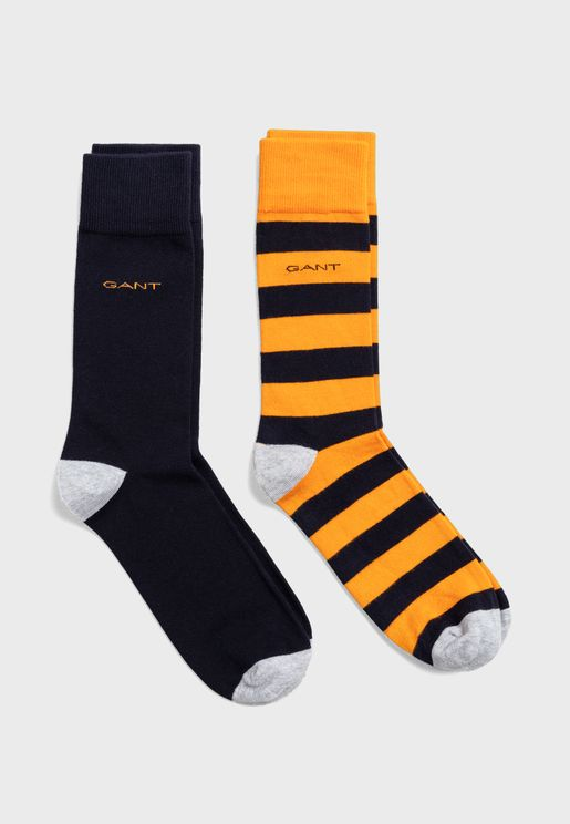 2 Pack Assorted Crew Socks
