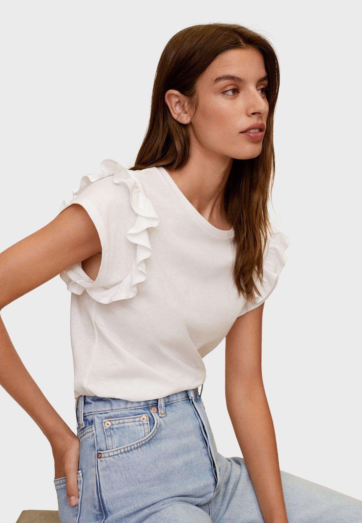 Ruffle Trim T-Shirt