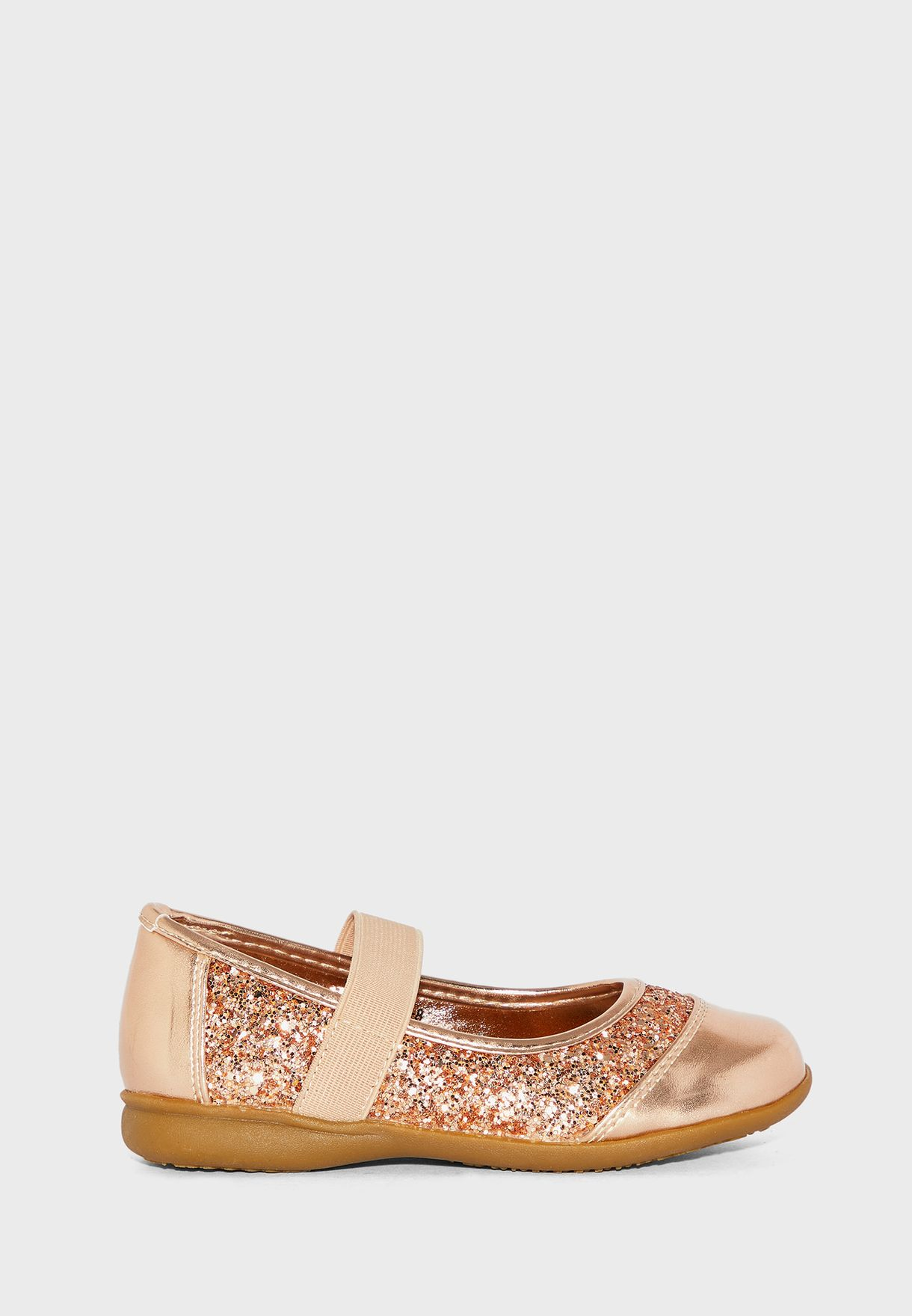Youth Glitter Perforated Ballerina