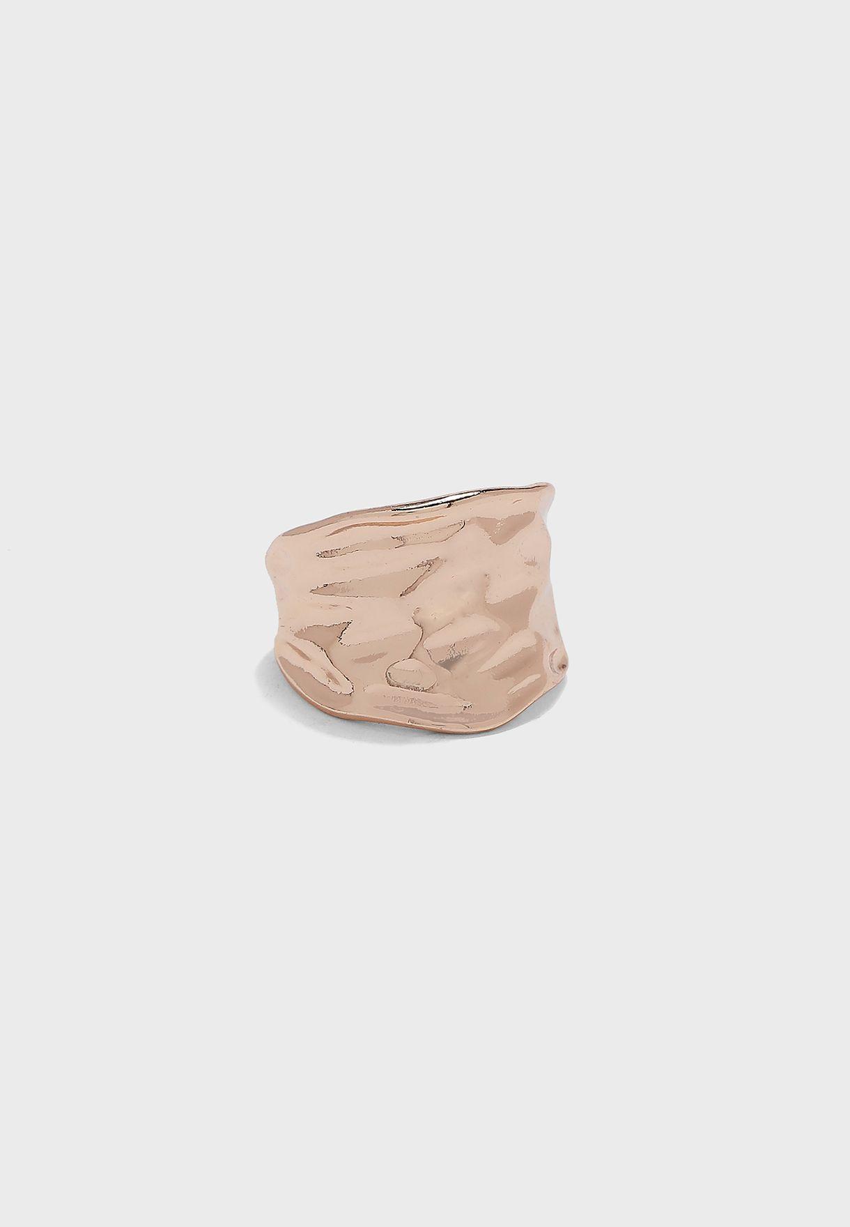 Textured Cuff Ring