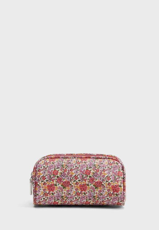 Muxia Floral-Print Cosmetic Bag