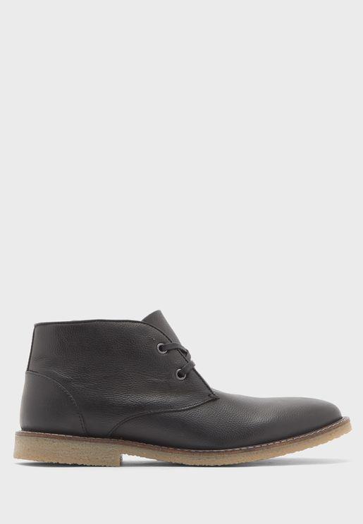 Genuine Leather Chukka Boots